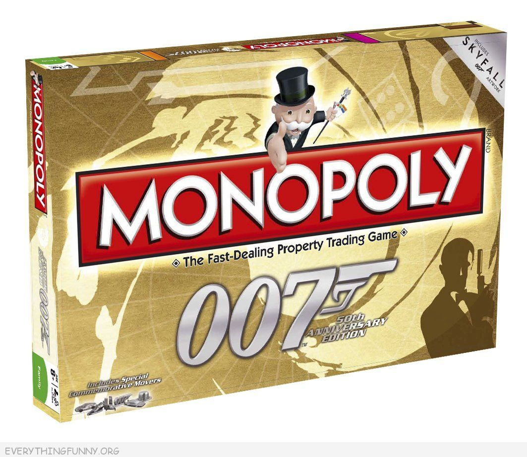 007 james bond monopoly game, 007 monopoly,