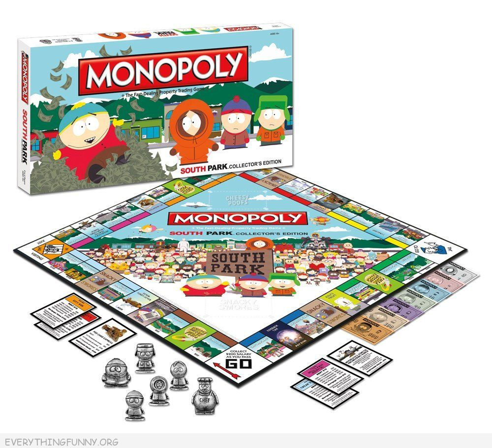 south park monopoly game, south park monopoly,