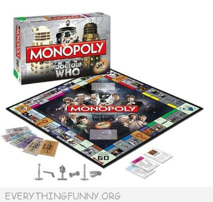 dr who monopoly game,