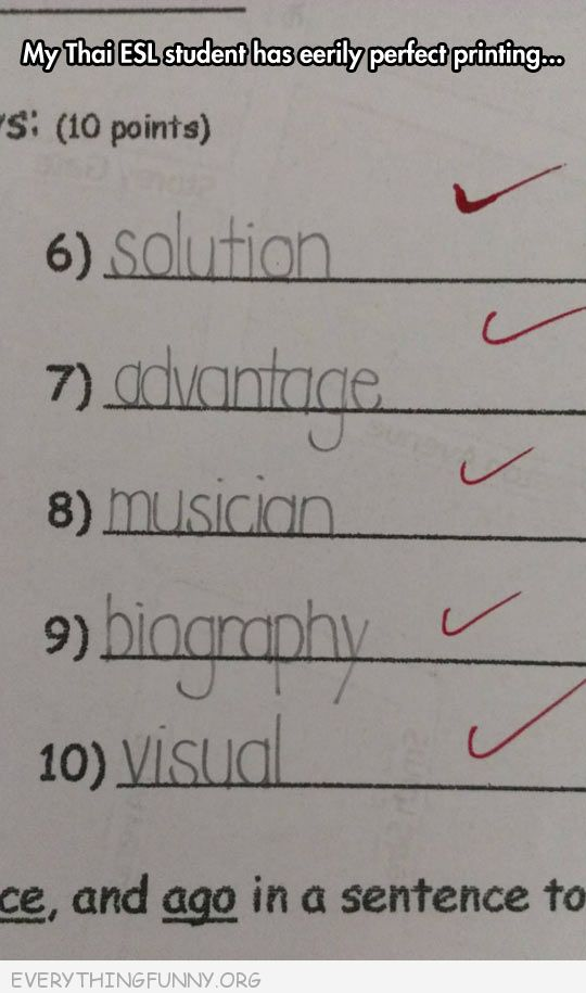funy test answers my student has eerily perfect printing