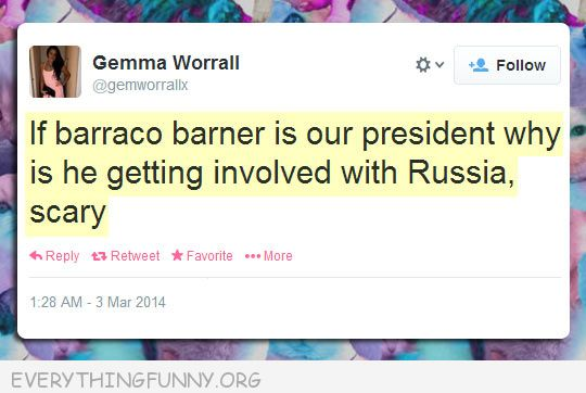 funny twitter post tweet if barraco barner is our president