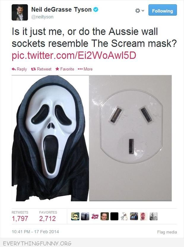 funny twitter pics australian sockets look like scream mask