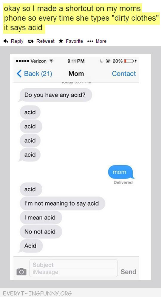 funny changed moms phone dirty laundry acid