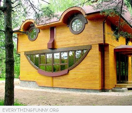 funy photos happy house looks like house is smiling