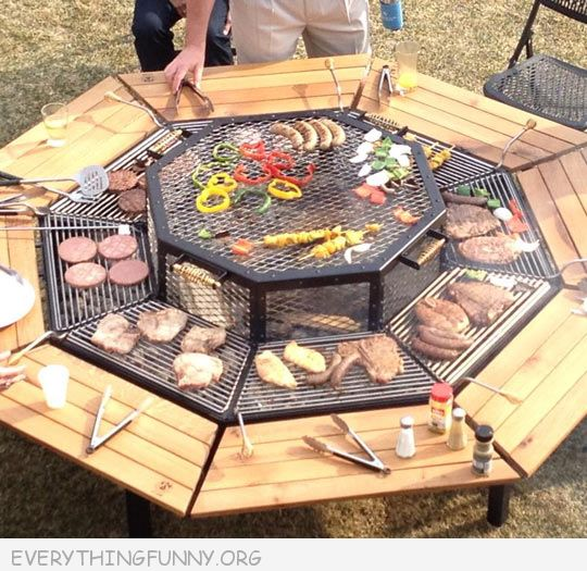 funny picture awesome charcoal pit for many people