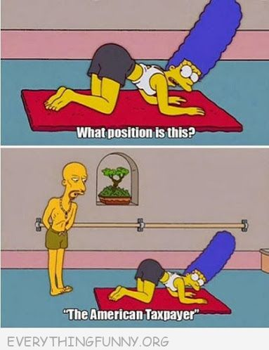 funny cartoons simpsons marge yoga