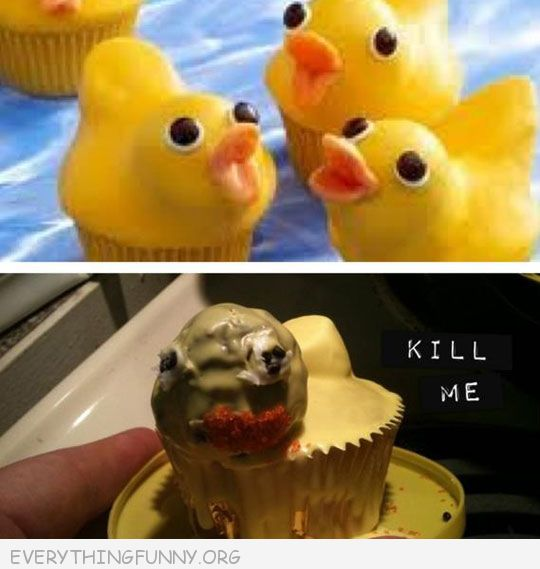 funny duck cupcakes nailed it