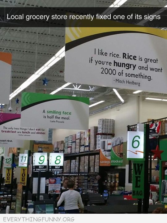 funy billboard signs i like rice rice is great if you want 2000 of something