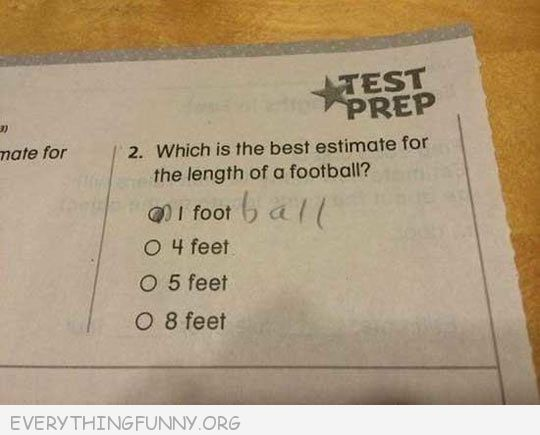 funny test answers 1 football