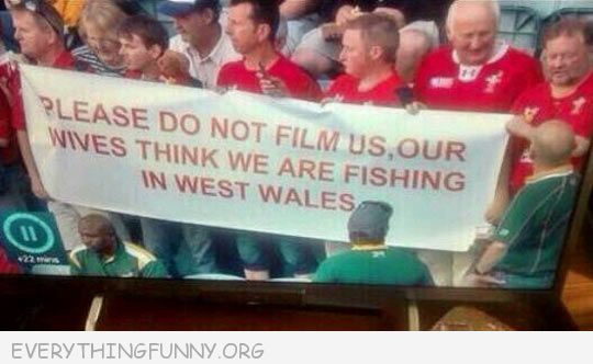 funny sing please don't film us out wives think we are fishing in west waleswals