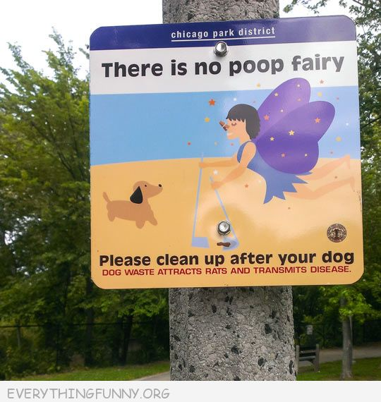 funny billboard sign there is no poop fairy