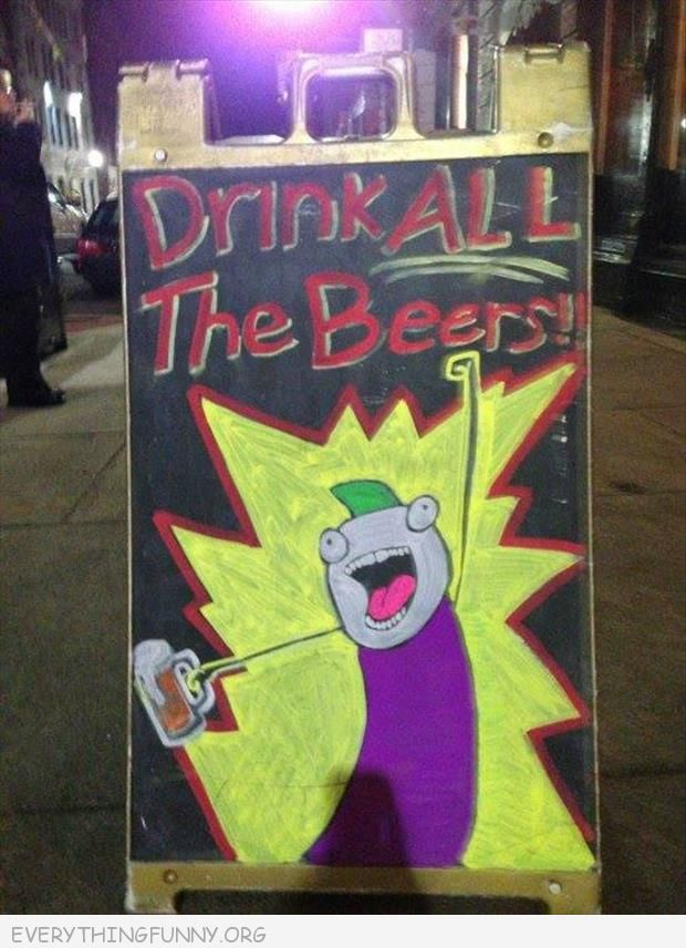 funny billboards signs drink all the beer