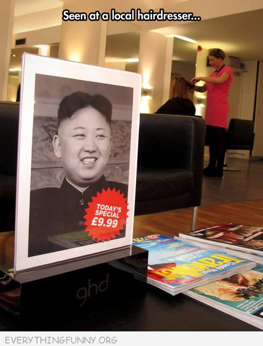 funny billboard sign at hair salon today's special haircut