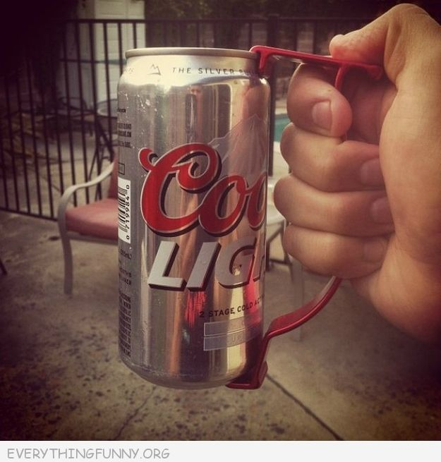 funny gifts gadgets summer beer the beer can handle turns can into instant mug