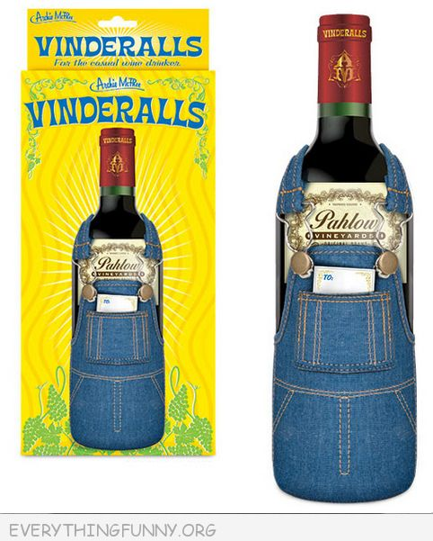 funny gifts and gadgets vinddralls overalls for wine bottles