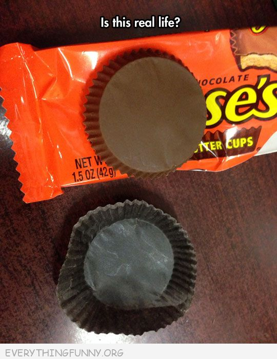 funny perfect reeses peanut butter cup is this real life