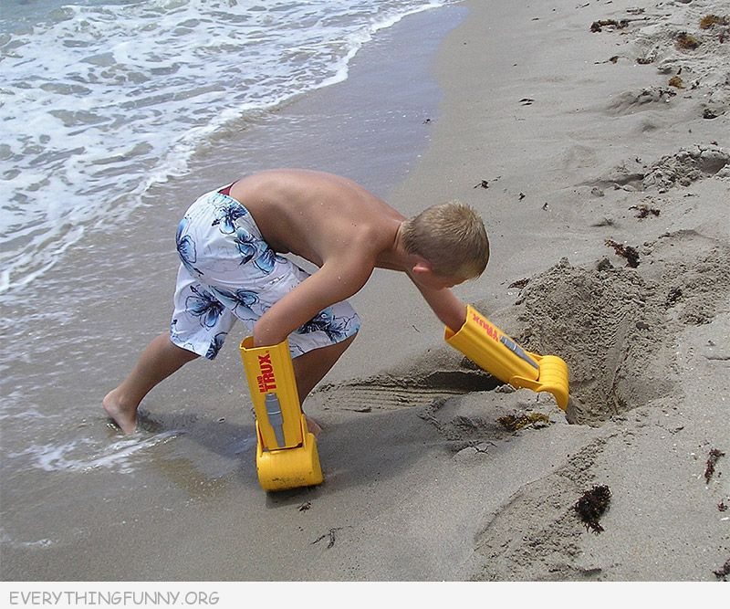 funny hand trux trucks for sand and snow