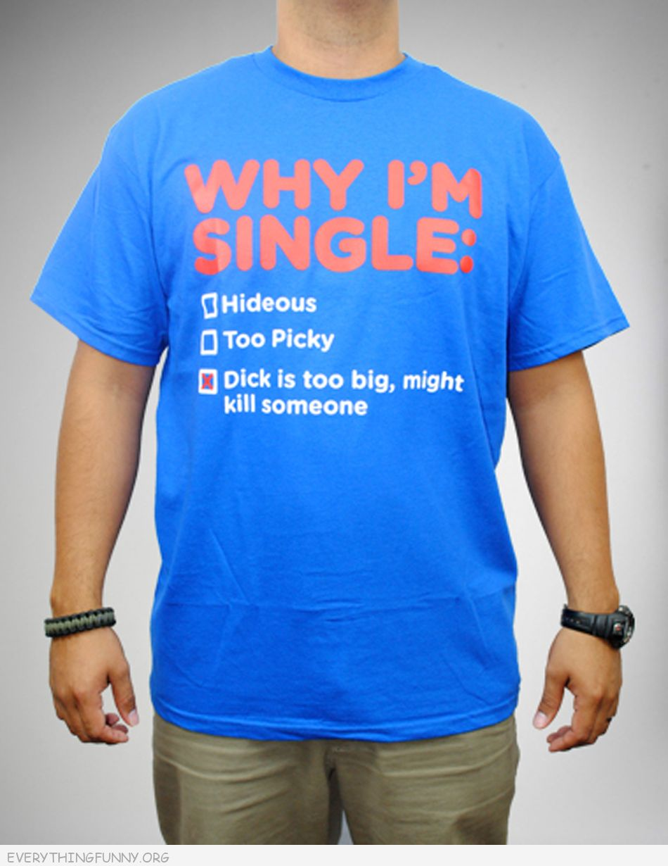 funny tshirts reasons i'm singledick too big might kill someone