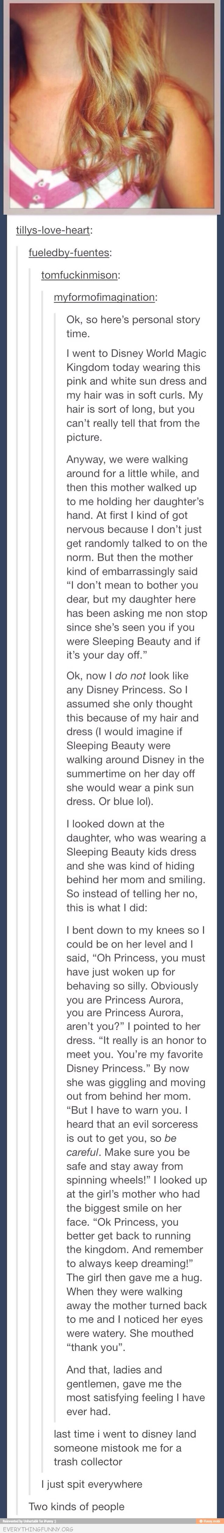 funny tumblr post two kinds of people secret princess