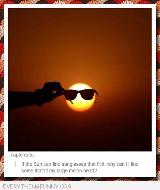 funny tumblr post sunglasses on sun