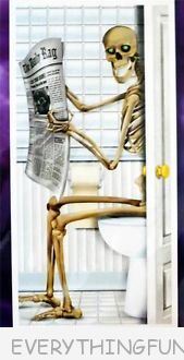 funny skeleton restroom bathroom door cover funny halloween decorations