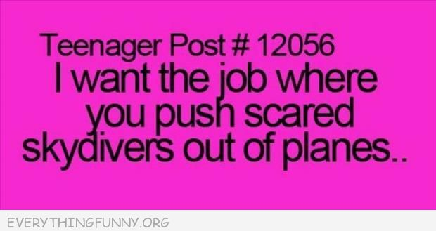 funny ecards i want the job of pushing scared people out of airplanes