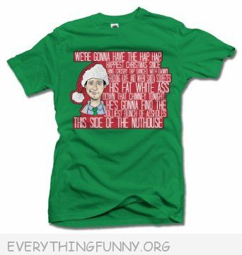 funny christmas shirt tshirt t shirt clark griswold  we're going to have the hap hap happiest