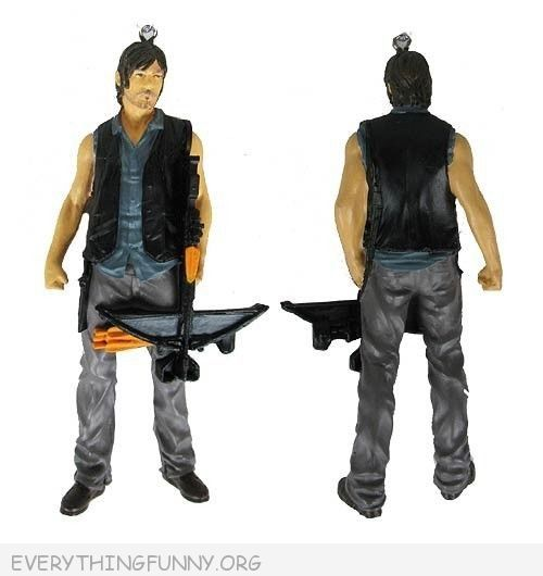 funny walking dead daryl dixon christmas tree ornament