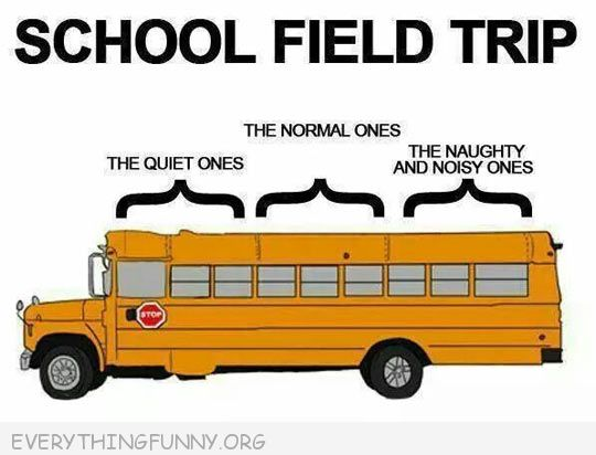 school bus seating the good ones front normal ones middle  naughty  noisy ones back of bus