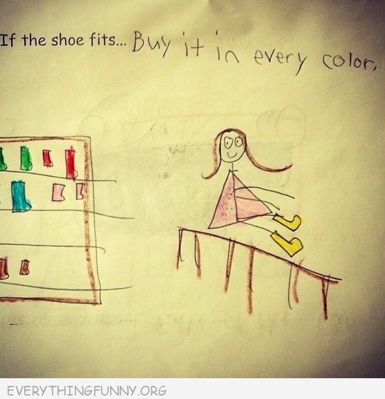 funny test answers if the shoe fits buy it in every color