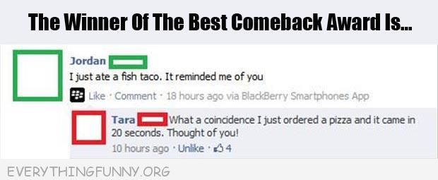 funny facebook status fish taco reminded me of you pizza came in 20 seconds reminded me of you