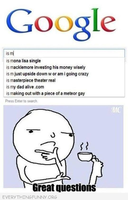 funny google searches is mona lisa single good questions