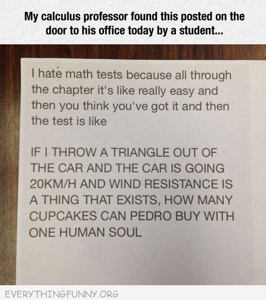 funny notes student leaves for math teacher