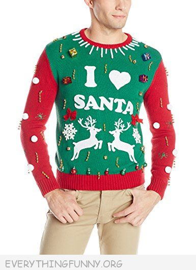 funny make your own ugly Christmas sweater kit