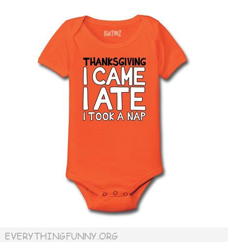 funny thanksgiving baby onesie  i came i ate  i took a nap