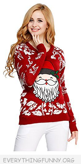 funny womens ugly christmas sweater
