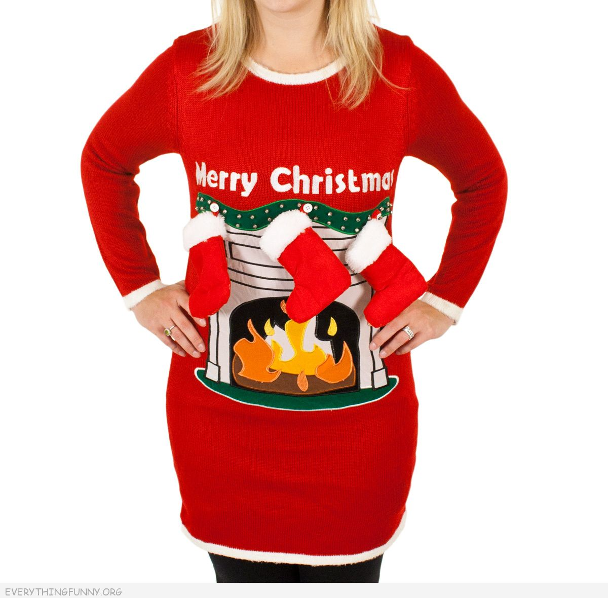 funny gifts ugly christmas sweater womens ladies girls fireplace 3d stockings