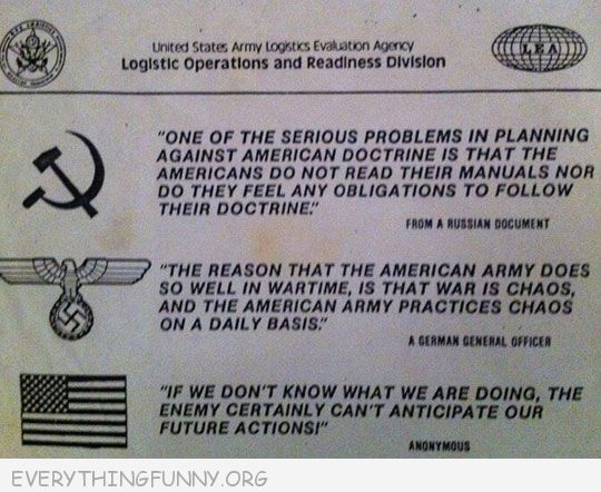 funny notes united states army logistic operations