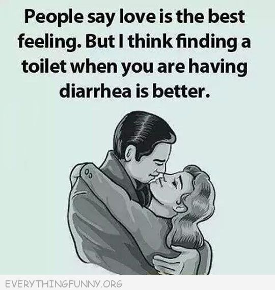 funny ecards people say love is the best feeling but i think finding a toilet when you have diarrhea is better