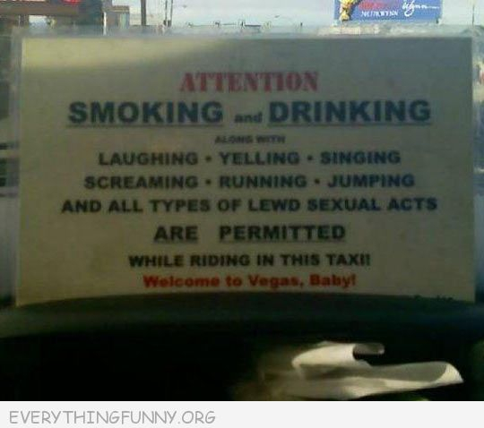 funnybillboards signs driking smoking yelling laughing allowed welcome to vegas