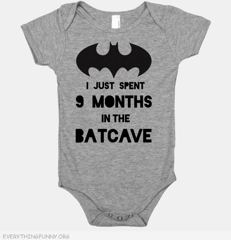 funny baby onsie i just pent nine months in the batcave