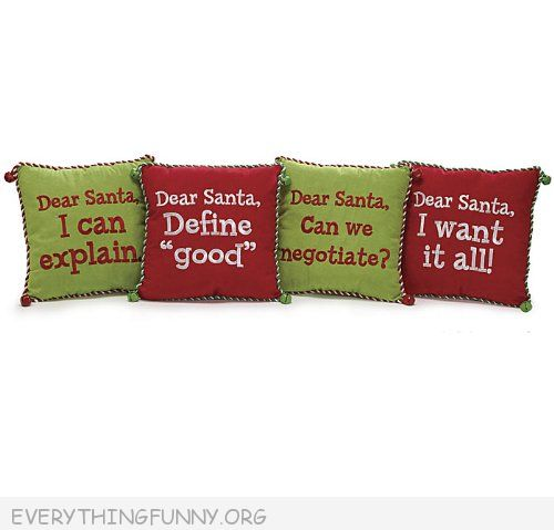 funnychristmas pillows funny christmas decor funny holiday pillows dear Santa I can Explain