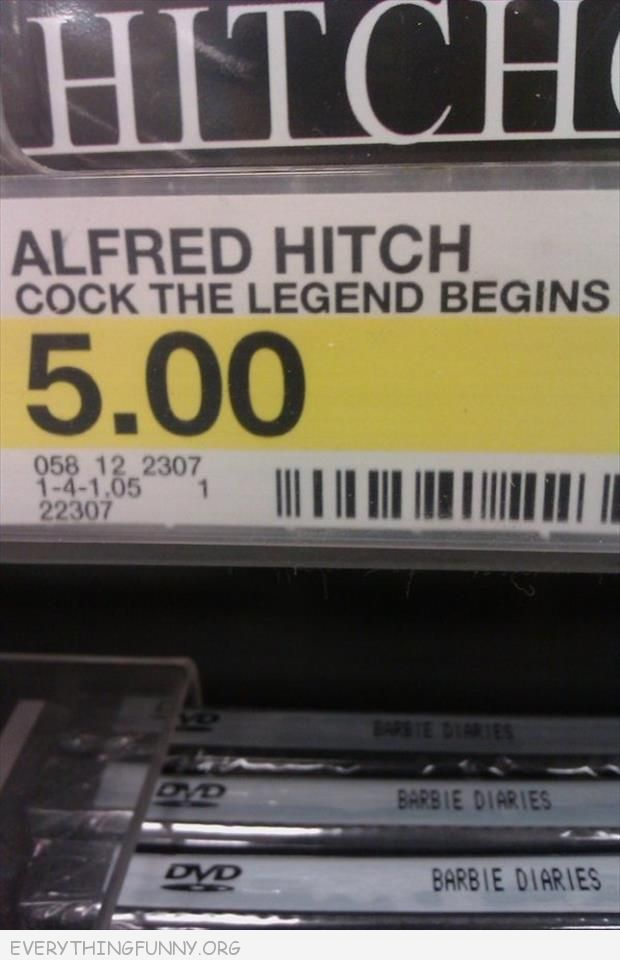 funny sign alfred hitch  cock the legend