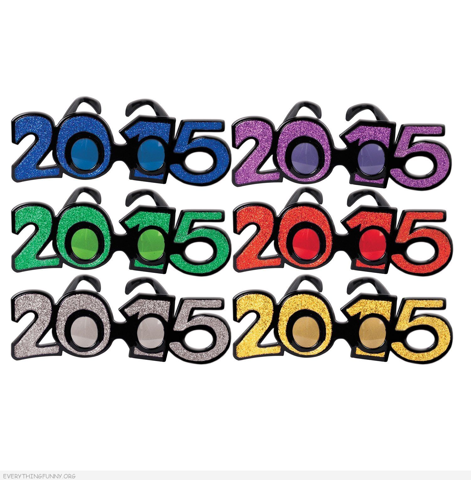funny 2015 new years eve glasses party decor