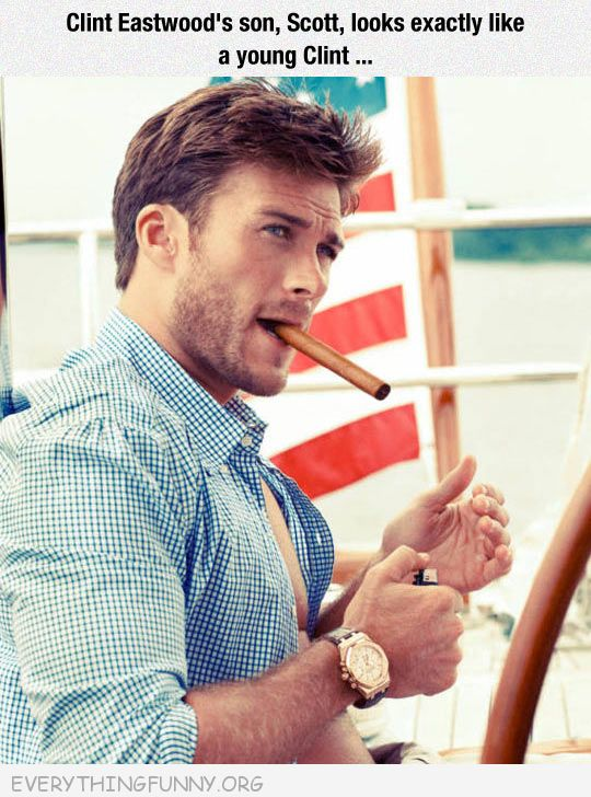 funny caption clint eastwoods son looks just like clint eastwood