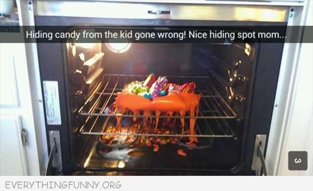 funny mom hid candy in oven big mistake