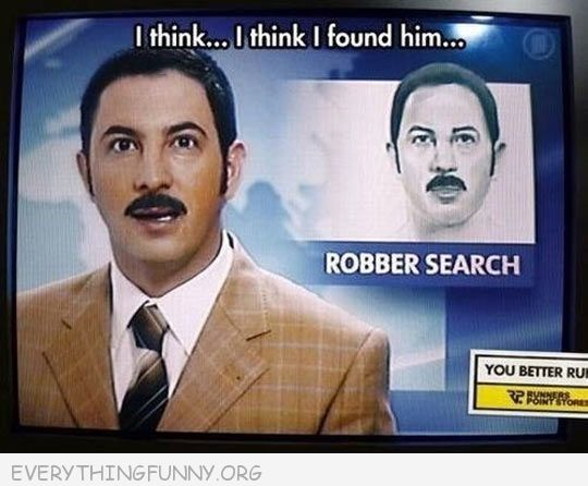 funny caption reporter looks exactly like criminal on tv they are looking for