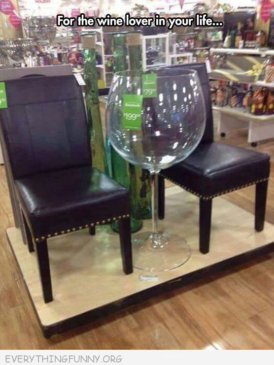 funny huge human size wine glass furniture decor