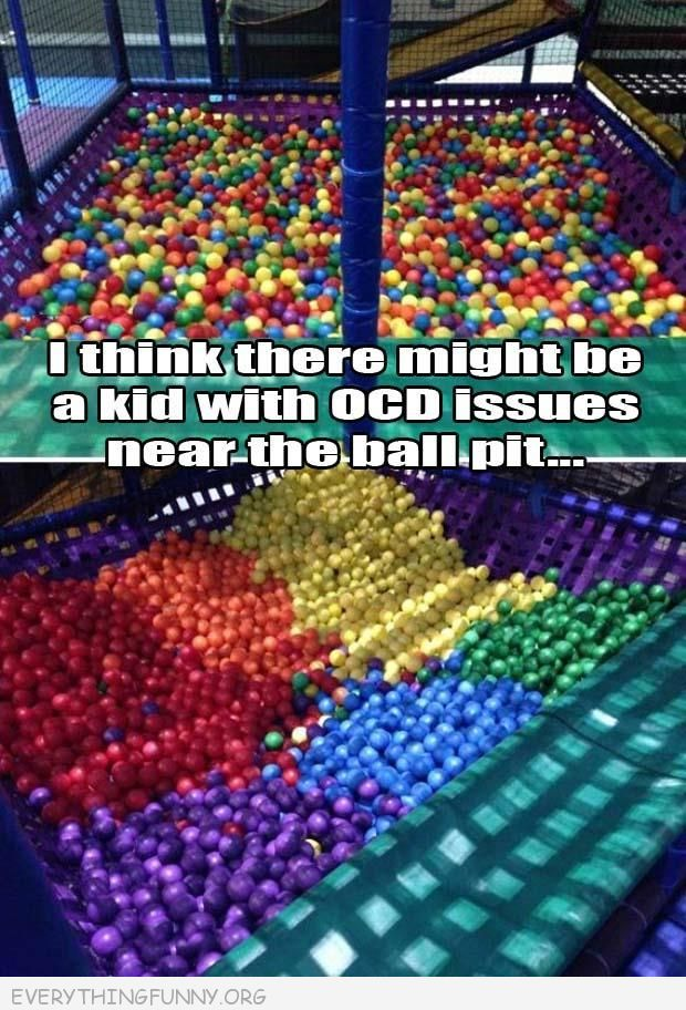funny kid has ocd in ball pit