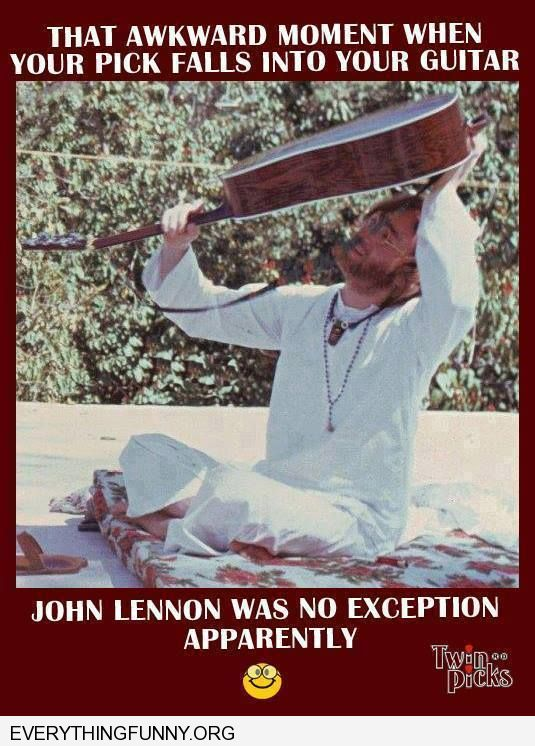 funny caption john lennon loses pic in guitar